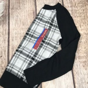 NWT Merona plaid sweater